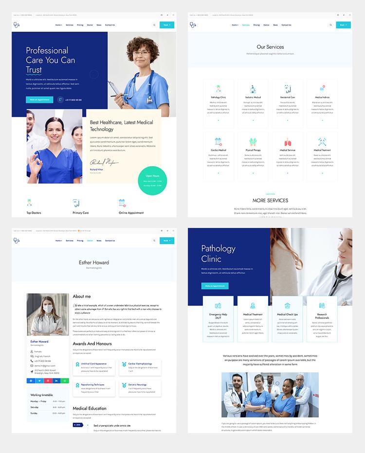 medical and healthcare joomla template - JA Ego