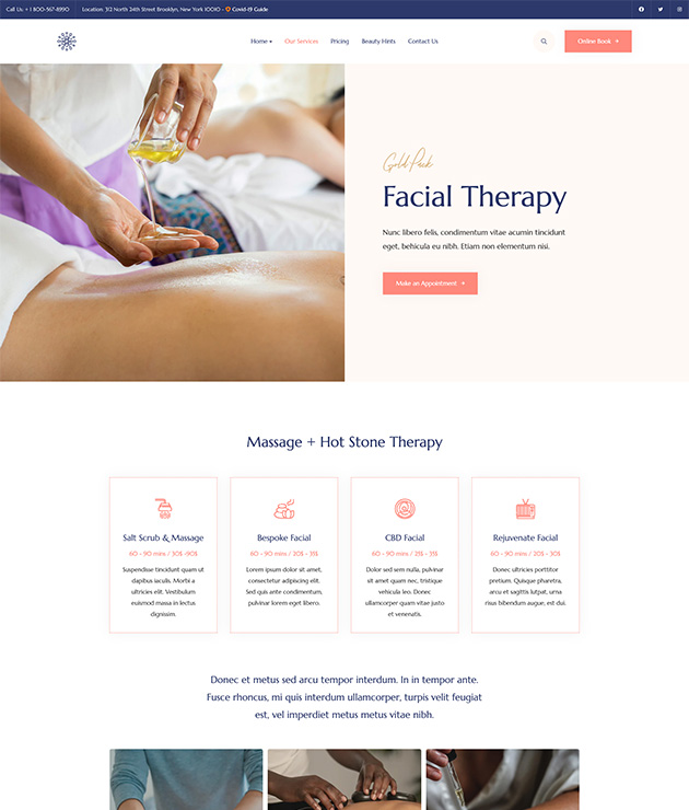 Beauty spa service Joomla template - JA Ego