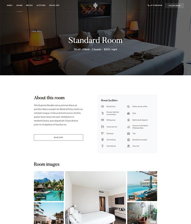 Joomla Hotel and resort template - JA Ego