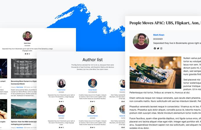 Joomla author feature