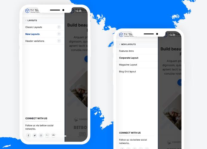 t4 joomla template framework off-canvas-menu