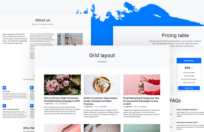 t4 joomla template framework bonus pages