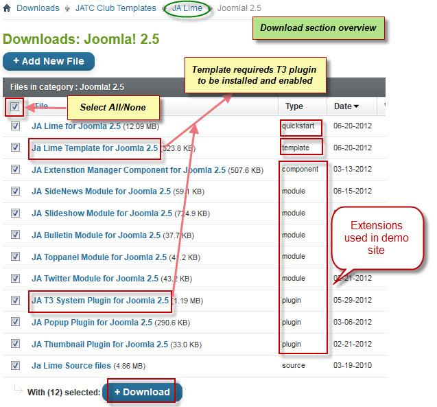 JA Lime - Joomla template documentation | Joomla Templates and