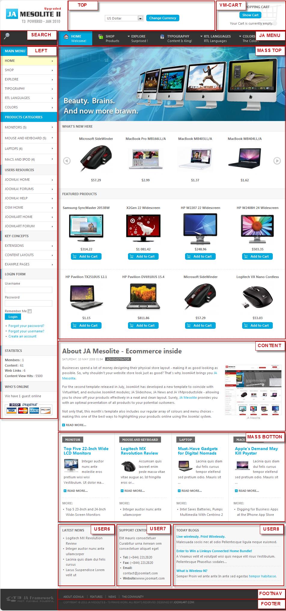 JA Mesolite II - Joomla template documentation | Joomla Templates