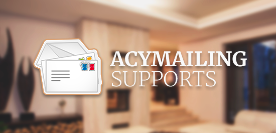 Support Acymailing - Joomla mail marketing extension
