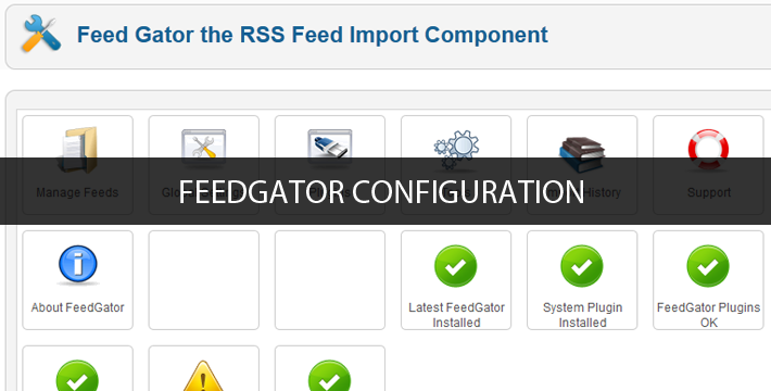 JA Wall Insight #11: FeedGator Configuration