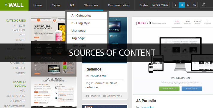 JA Wall Insight #7: K2 or Joomla Standard Content? At Your Choice