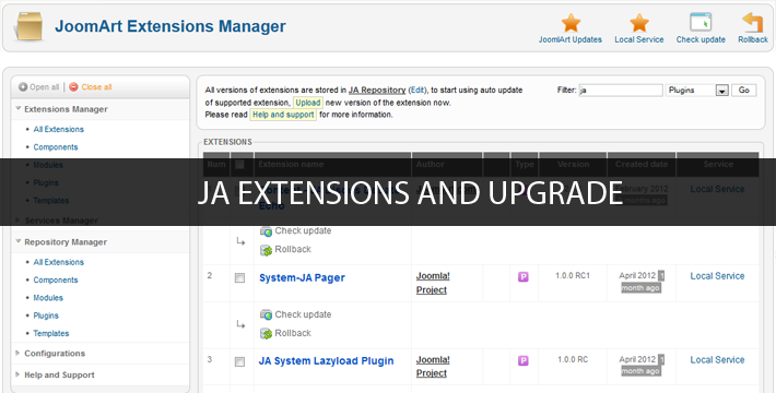 JA Wall Insight #9: JA Extensions Configuration and Upgrade