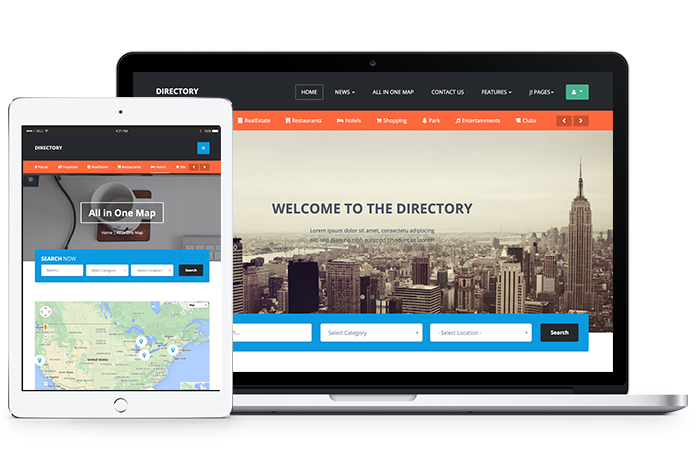 Ja Directory Is A Fully Responsive Joomla Template