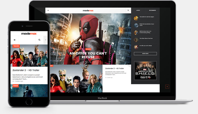 fully responsive movies joomla template