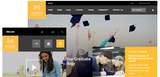 Fully responsive education Joomla template