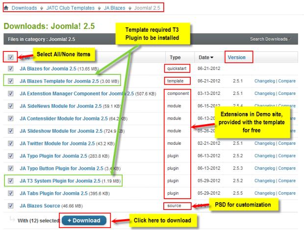 JA Blazes template documentation | Joomla Templates and Extensions