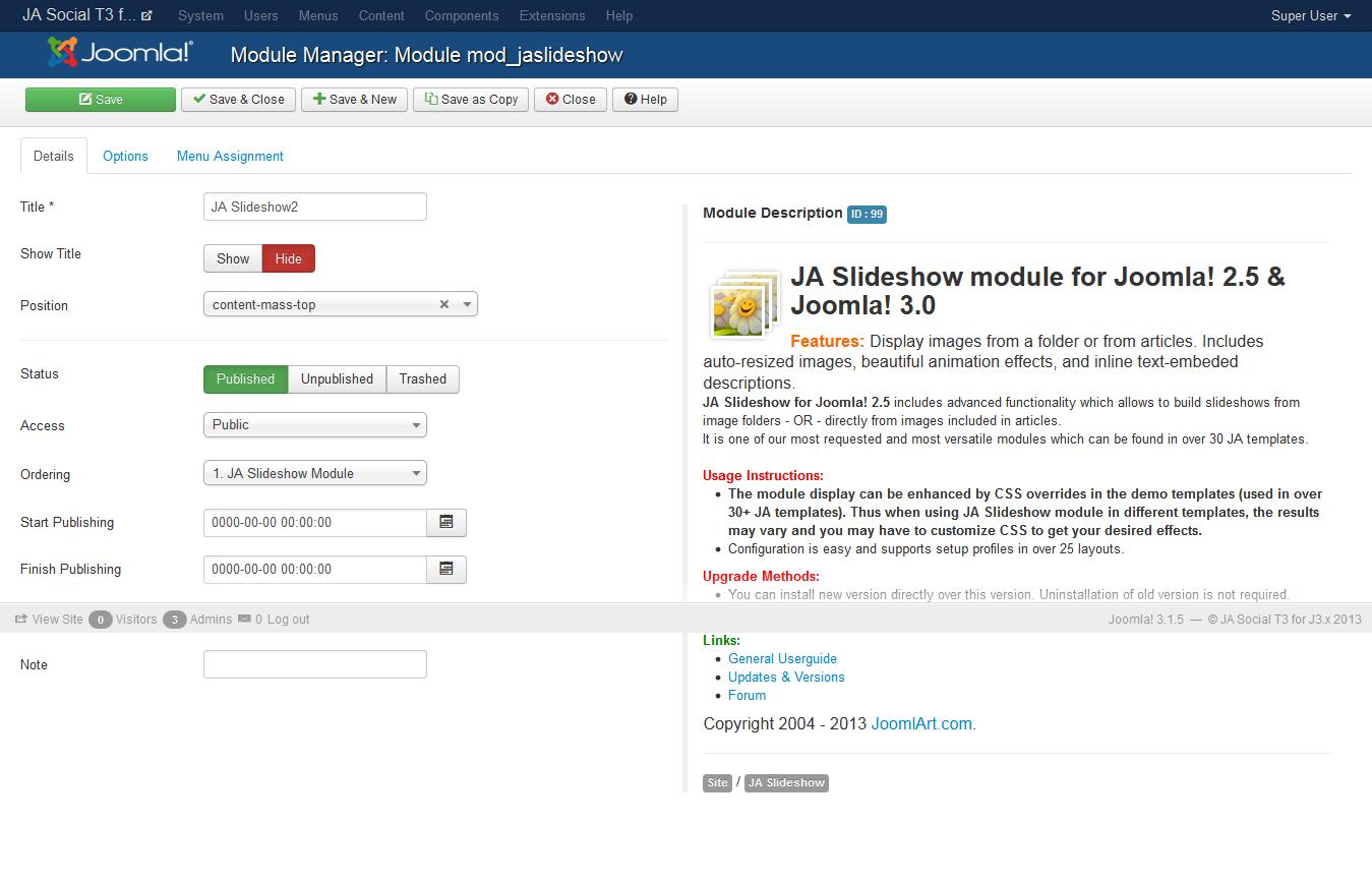 Ja Social T3 Joomla Template Documentation Joomla Templates
