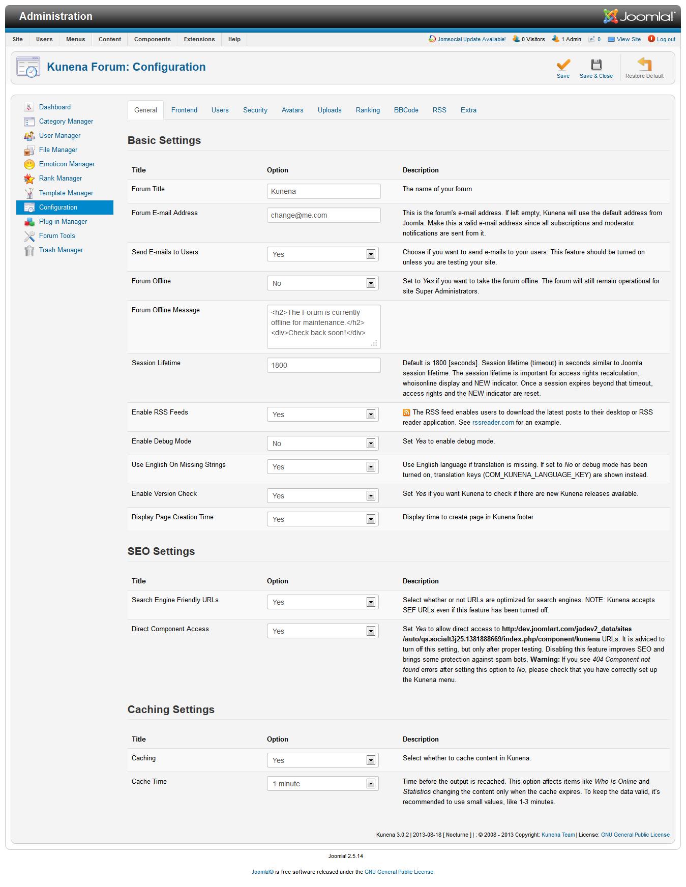 JA Social (T3) - Joomla template documentation | Joomla Templates