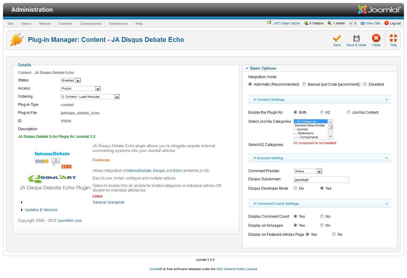 JA Social (JA T3v2) - Joomla template documentation | Joomla