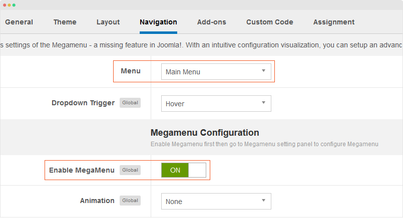 Template Configuration | Joomla Templates and Extensions Provider