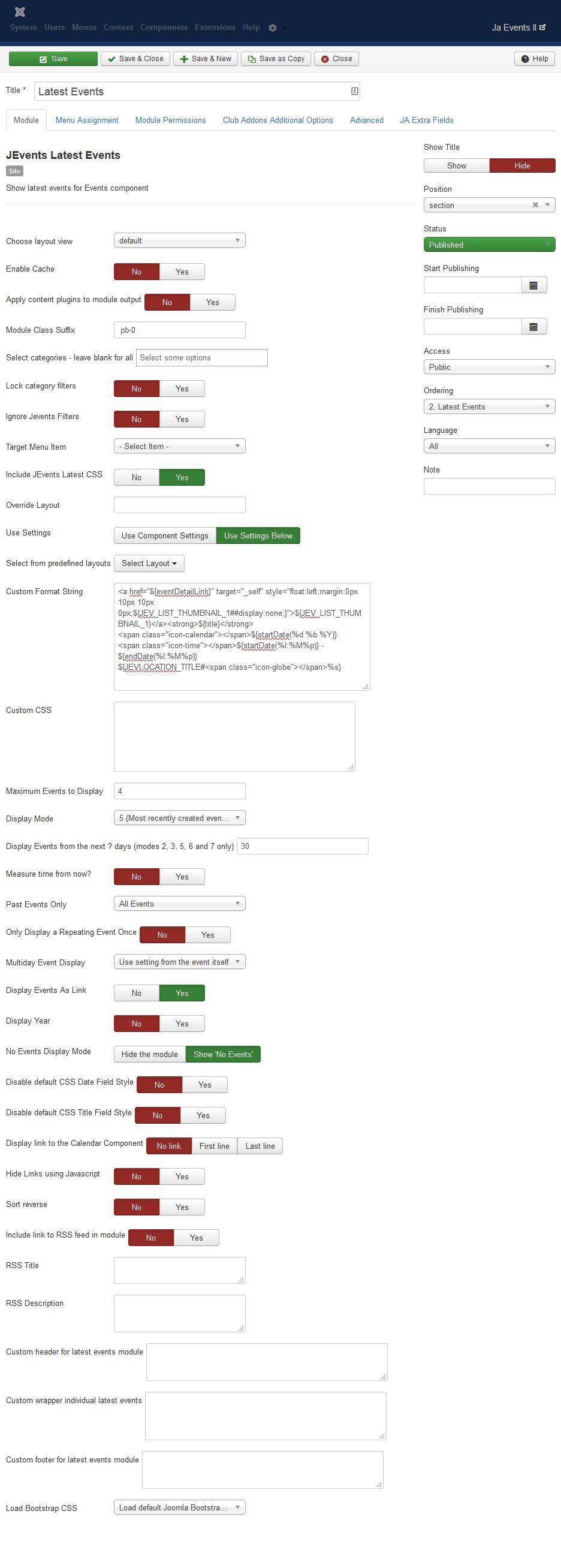 Event Calendar Js : Ja events ii joomla templates and extensions provider