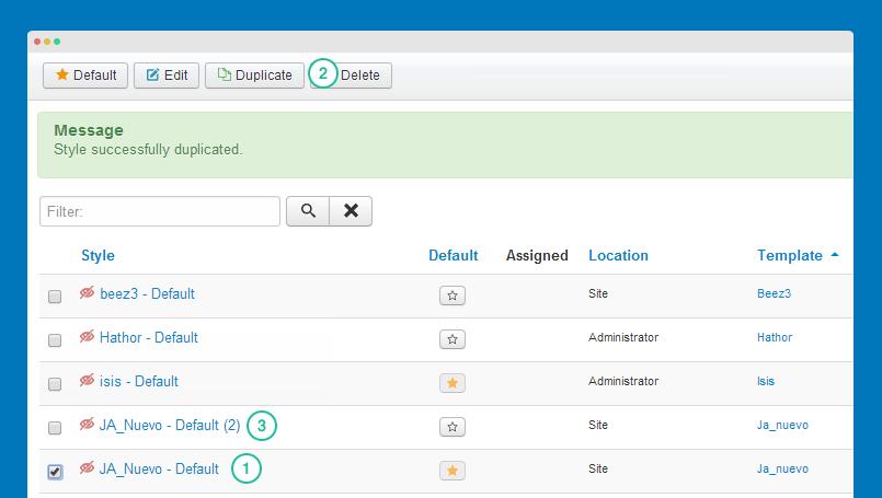 Configuring ja nuevo template | joomla templates and extensions.