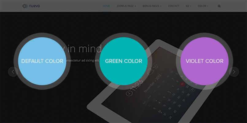 multiple color themes