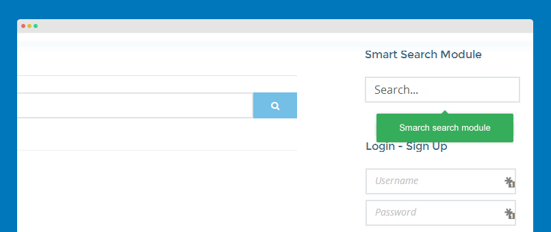 smart search module front-end