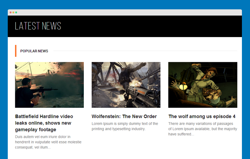 Articles category module front-end