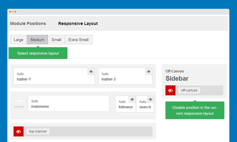 Configure responsive layout