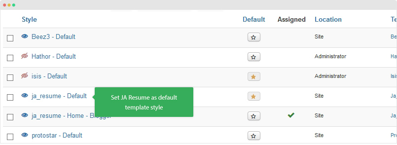 ja resume documentation