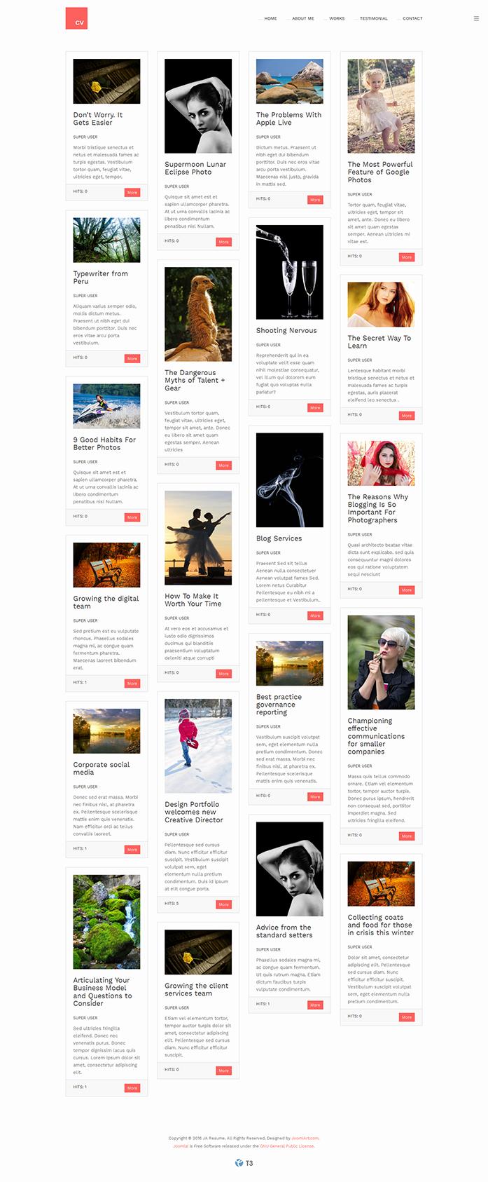 PREVIEW] JA Resume – Responsive Joomla template for Resume ...
