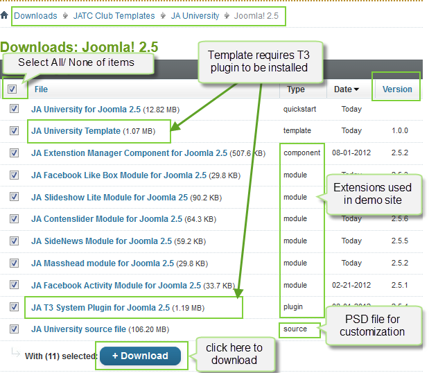 Ja university joomla template documentation joomla for How to plan a website