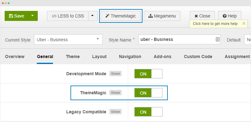 enable ThemeMagic