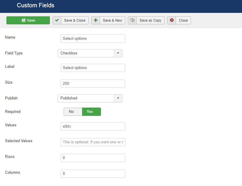 dth donate custom fields