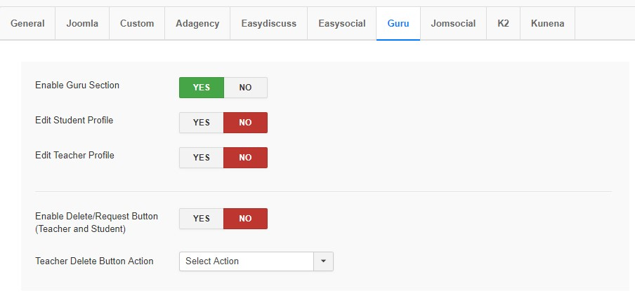ja joomla gdpr guru options
