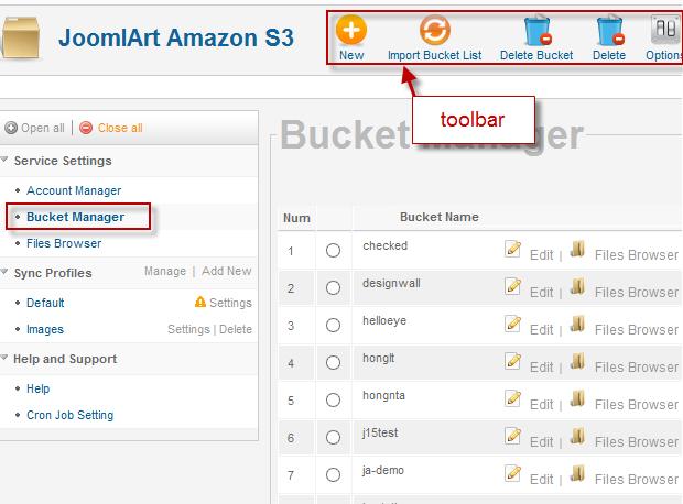 JA Amazon S3 component documentation   Joomla Templates and