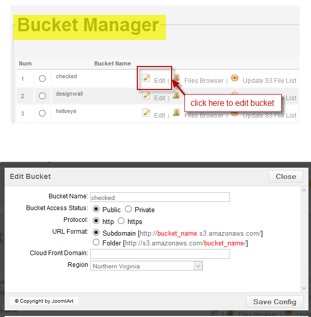 Bucket manager