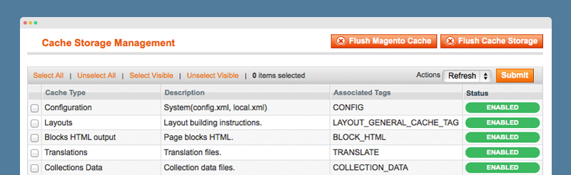 Magento Guide: Cache Management