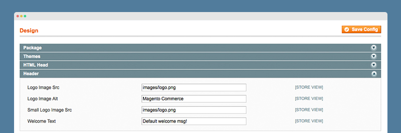Magento Guide: Header Settings