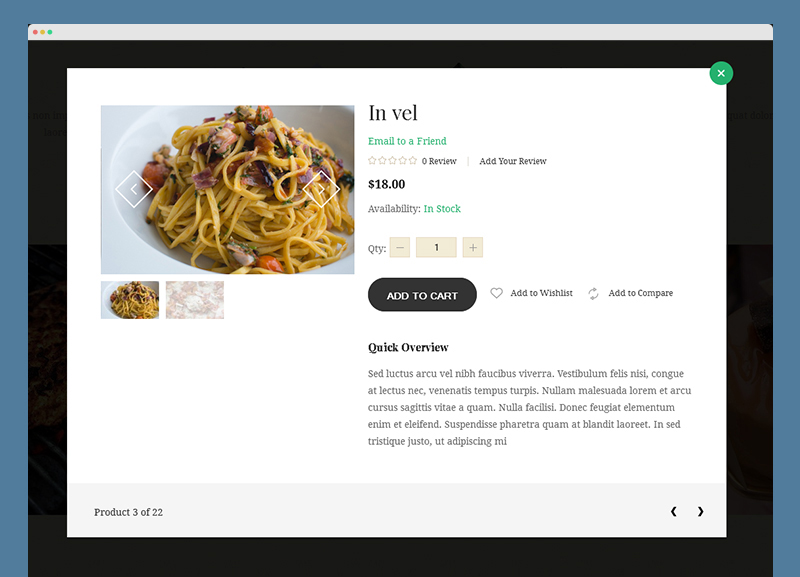 Magento extension QuickView in Responsive Magento theme Aroma