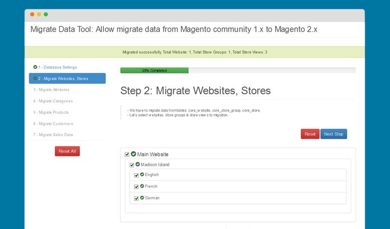 Magento 2 Migration Data Tool