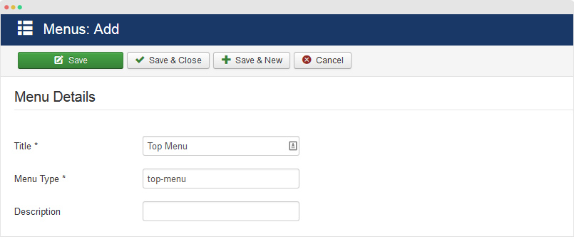 add new joomla menu item