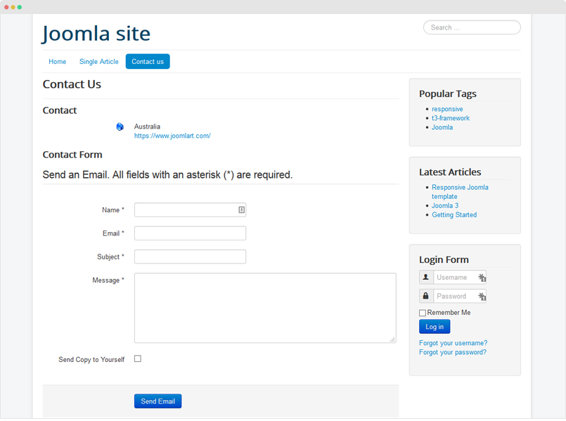 How To Create Joomla Contact