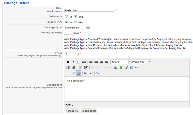 ja job board component administration joomla templates and