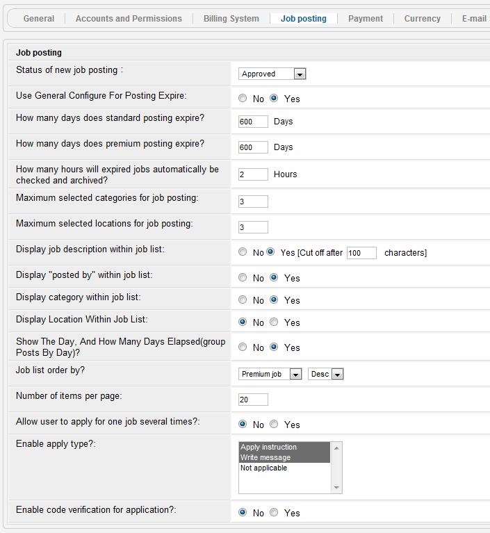 Job Listing Template. ja job board component administration joomla ...