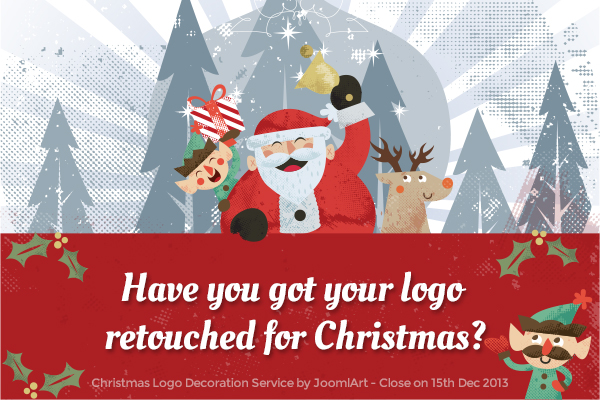 Free Christmas logo decoration service