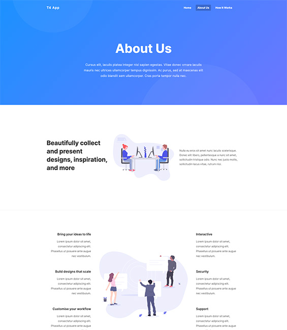 App intro Joomla template About us - App