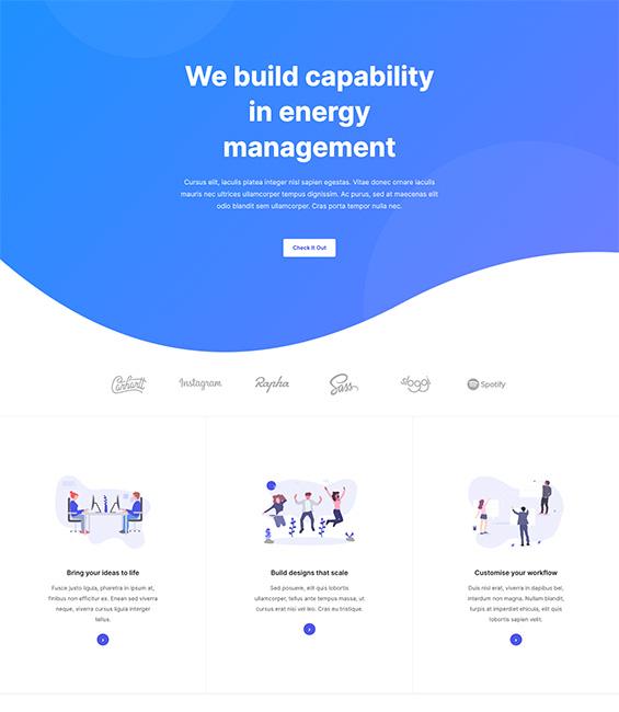 App intro Joomla template - App