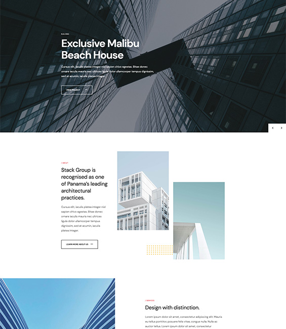 Architecture Joomla template - Architect
