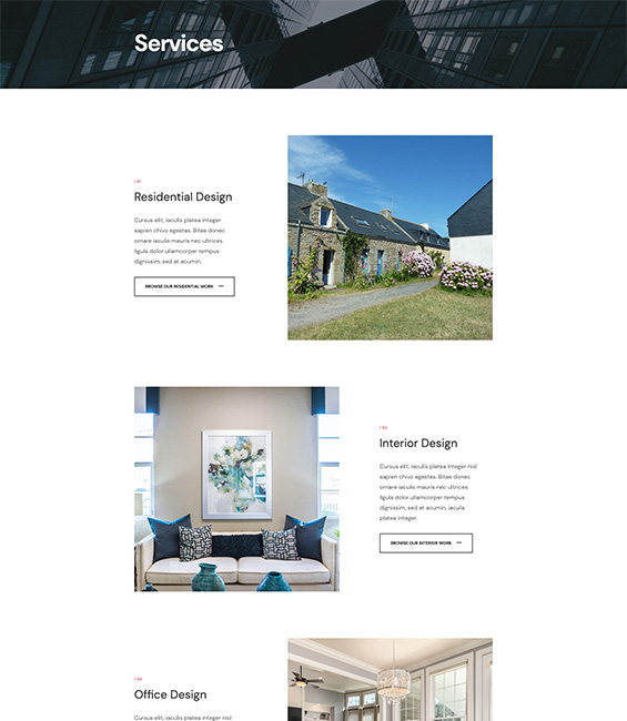Architecture services Joomla template - Architect