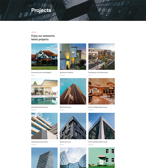 Architecture projects Joomla template - Architect
