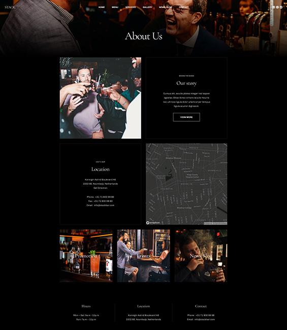 Bar and Pub intro Joomla template - T4 Bar