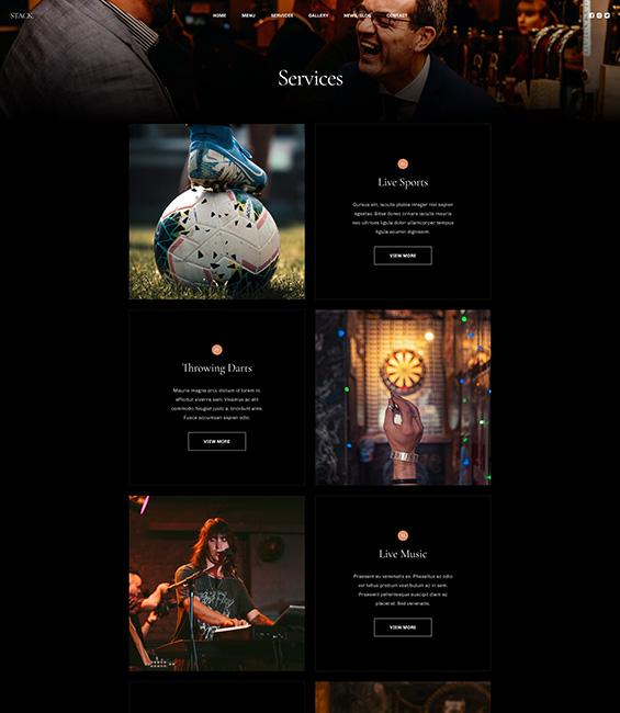 Bar and Pub services Joomla template - T4 Bar